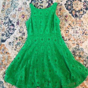 Green skater dress 👗